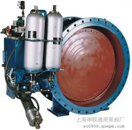 HD7X41H-16C-DN1000蓄能器型液控缓闭止回蝶阀DX7K41X