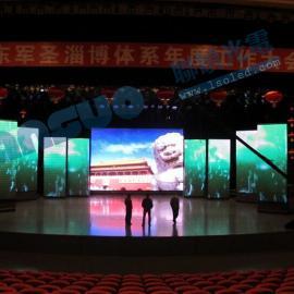 企业展厅led电子屏用P2.5全彩8平方米安装要多少钱
