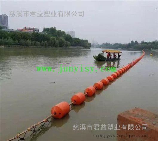 江西直径400*1000河道拦污浮筒 南昌水库200*1000拦截垃圾浮筒