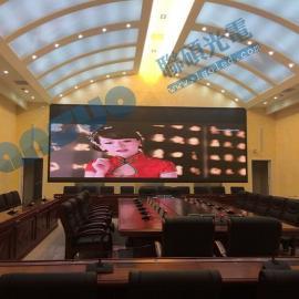 会议室比投影仪更好效果P4全彩led电子屏多少钱
