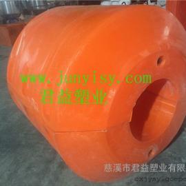 管道抽沙塑料聚乙烯夹管浮筒定做 孔径300抽沙管道塑料浮筒