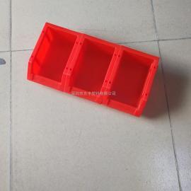 3号斜口箱_组合式斜口零件盒_180*120*80MM斜口胶箱_光丰制造