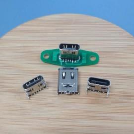 6P直立式type-c【type-c立贴母座】180°三脚插SMT-6pin USB3.1CF