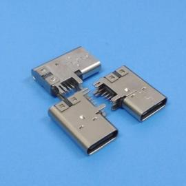 14P侧插type-c母座【侧立式type-c母座】90度侧卧14pin移动电源cf