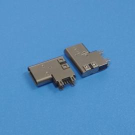移动电源type-c母座【14P侧插type-c垫高母座】侧立式垫高type-c