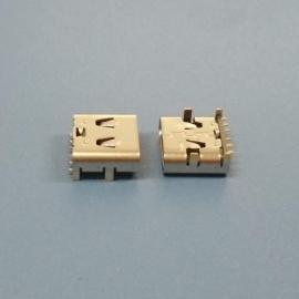 板上型6P TYPE-C母座【卧式贴片type-c母座】大电流type-c L=7.9