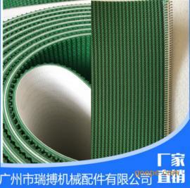 广州瑞搏 直条纹输送带3mm厚度-绿色输送带-花纹输送带