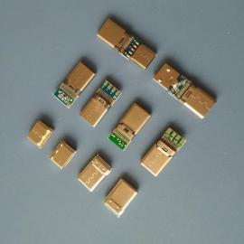 usb3.1 高频type-c公头【夹板0.8/1.0】铆压壳type-c冲压款插头