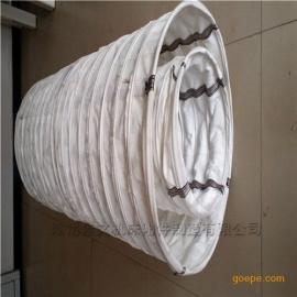 圆形防尘排烟耐磨帆布软连接加工价