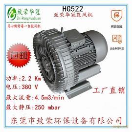 高压风机激光机设备旋涡气泵2.2kw旋涡气泵