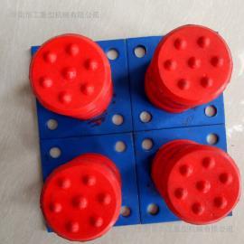 出售100*100带铁板聚氨酯缓冲器 高密度防撞缓冲器 缓冲块