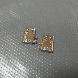 type-c侧插6P母座/移动电源 90度侧卧插板C母