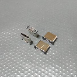 type-c插板公头 12P~180度立式插板 12pin type-c超短公头