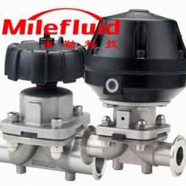 卫生级气动盖米隔膜阀,蒸汽耐高温隔膜阀规格