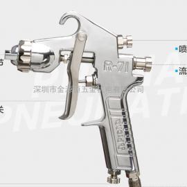 台湾宝丽prona 气动喷枪工具 R71 高雾化通用型油漆手动喷漆枪