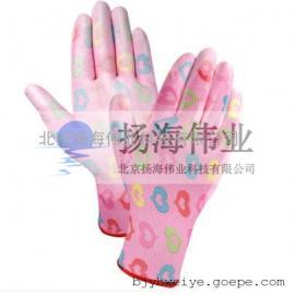 PU手套/PU半浸手套/印花尼龙PU手套/彩尼龙PU手套