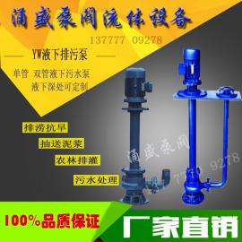 液下排污泵无堵塞液下泵50YW40-15-4KW双管白口铁单管液下泵1米