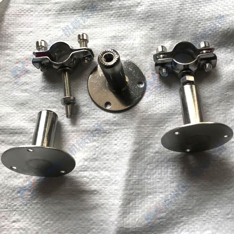 厂家直销可调节高度不锈钢管支架 可调节高度不锈钢管卡 管箍