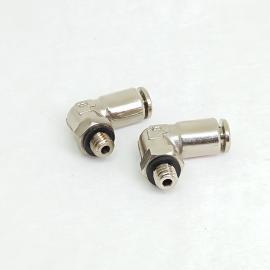 厂家直销全铜直角旋转360度弯头PL4-M5*0.8外螺纹快速气管接头