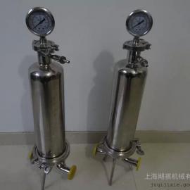 不锈钢单芯过滤器 卫生级微孔过滤器 单芯精密过滤器
