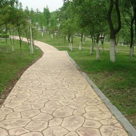 陕西汉中 压花地坪 透水地坪材料厂家