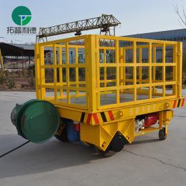 重型轨道平车 无动力牵引平板车 电缆卷筒轨道平板车