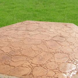 甘肃甘谷 广场彩色压花路面艺术压印地坪混凝土压模地坪