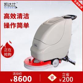 常州手推电动洗地机厂家,超市商场瓷砖地面保洁用拖地机价格
