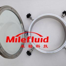 YADDN400卫生级不锈钢大玻璃视镜快开人孔