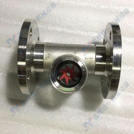 温州佳一供应不锈钢法兰连接叶轮水流指示器 法兰连接叶轮视镜