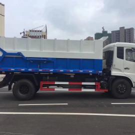 尾气加热厢式密封污泥运输车图片-排气管保温12吨15吨污泥车价格