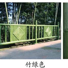 五湖竹绿色水泥仿木漆园林工程仿木刷漆