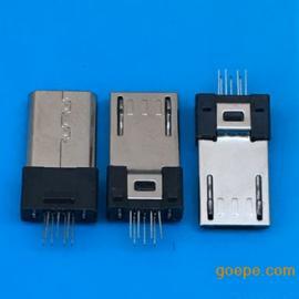 MICRO 7P公头夹板/V8-加长迈克7P夹板焊线 勾四