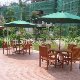 惠州户外家具之户外桌椅,实木桌椅,休闲桌椅