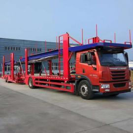 一拖九轿运车-一拖十车运送车出产厂家-中置轴