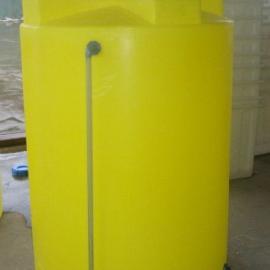 1500L水处理耐酸碱PE1.5立方环保设备搅拌罐 PE加药箱