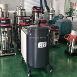 纺织厂车间吸棉绒纤维纸屑用380V移动式大吸力干式工业吸尘器