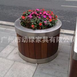 不锈钢圆形花箱