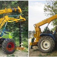 拖拉机螺旋式挖坑机厂家直销