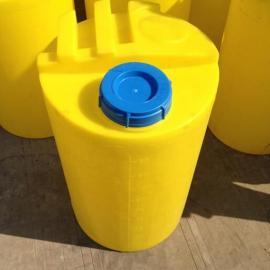 江苏100L圆形塑料药剂桶PE加药箱加药桶 塑料桶溶剂药箱