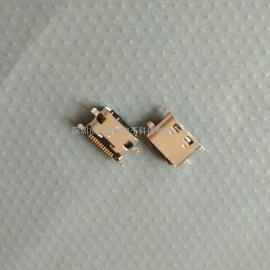 单排12P type-c母座 外露胶芯 沉板1.1mm /魅蓝X手机尾插