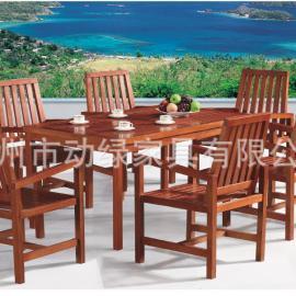 户外桌椅、花园桌椅、木质桌椅、休闲桌椅