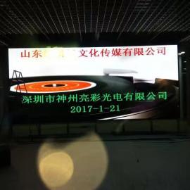 村委舞台固定安装P3LED电子显示屏