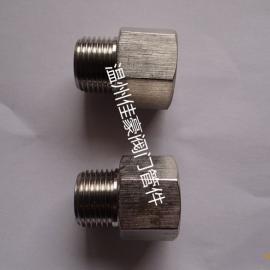 佳豪牌 1/2NPT-M20*1.5 304SS不锈钢压力仪表内外丝转换接头