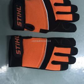 德国STIHL斯蒂尔防护手套油锯防割伤手套进口汽油锯防护手套