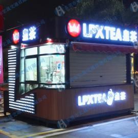 网红答安奶茶亭设计,步行街网红售货亭生产厂家