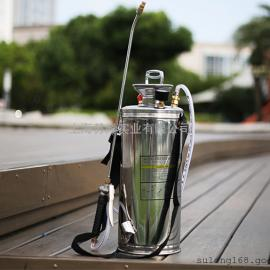 4L不锈钢喷雾器加厚肩负式小型喷壶气压 手动喷水壶浇水喷药壶