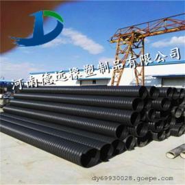 通许钢带PE波纹管 高强度钢带波纹管 耐磨损钢带波纹管