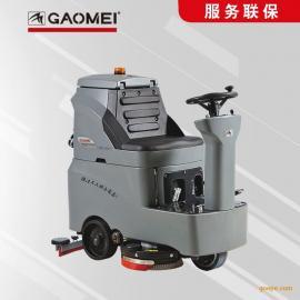 桂林电动洗地机迷你款驾驶保洁车间彻底清洗污垢