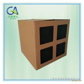 漆雾过滤纸箱 纸箱油漆过滤器 阻力低 环保专用滤纸箱